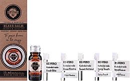 Kup Zestaw dla mężczyzn - Beviro Grapefruit Cinnamon Sandal Wood (b/oil/10ml + b/balm/15ml + edc/5x1ml)