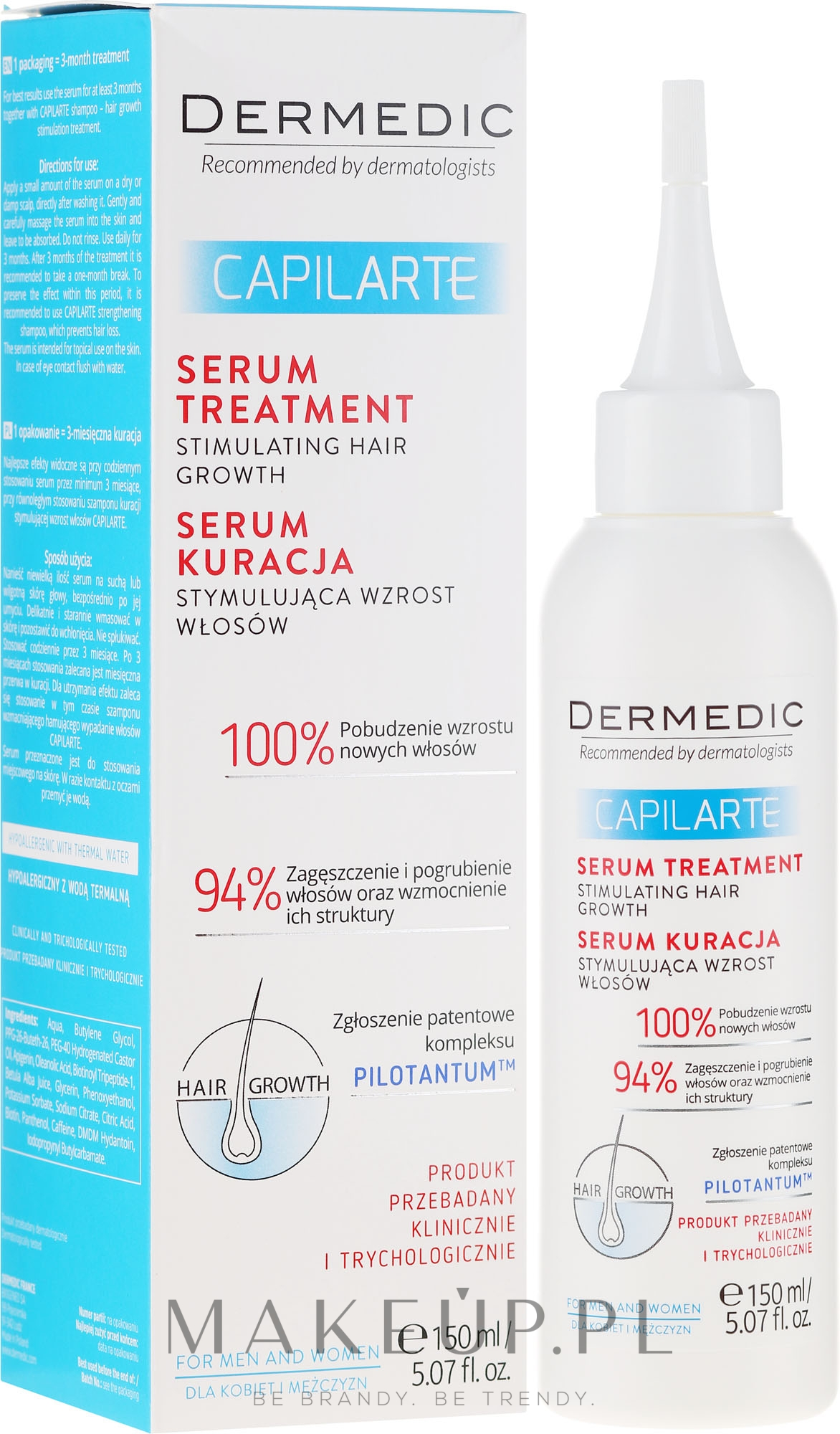Serum-kuracja stymulująca wzrost włosów - Dermedic Capilarte — фото 150 ml
