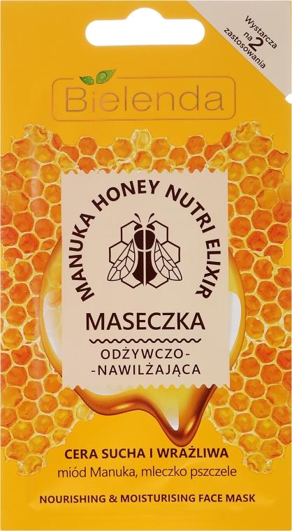 Odżywczo-nawilżająca maseczka do twarzy Miód Manuka i mleczko pszczele - Bielenda Manuka Honey Nutri Elixir Mask
