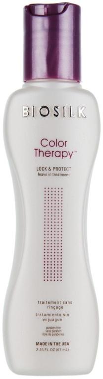 Ochronna odżywka bez spłukiwania do włosów farbowanych - BioSilk Color Therapy Lock & Protect Leave-In Treatment — фото N2