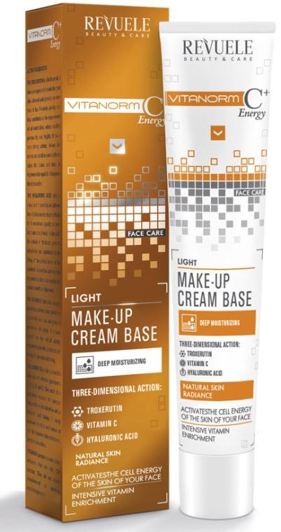 Lekka kremowa baza pod makijaż - Revuele Vitanorm C+ Energy Cream Base