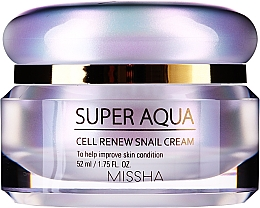 Kup Intensywnie pielęgnujący krem z wyciągiem ze śluzu ślimaka - Missha Super Aqua Cell Renew Snail Cream