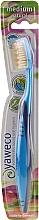 Kup Szczoteczka do zębów, średnia twardość, niebiesko-błękitna - Yaweco Toothbrush Natural Medium