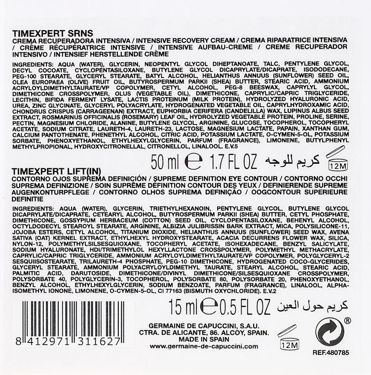 Odmładzający zestaw do skóry dojrzałej - Germaine de Capuccini Timexpert (cr 50 ml + eye/cr 15 ml) — фото N5