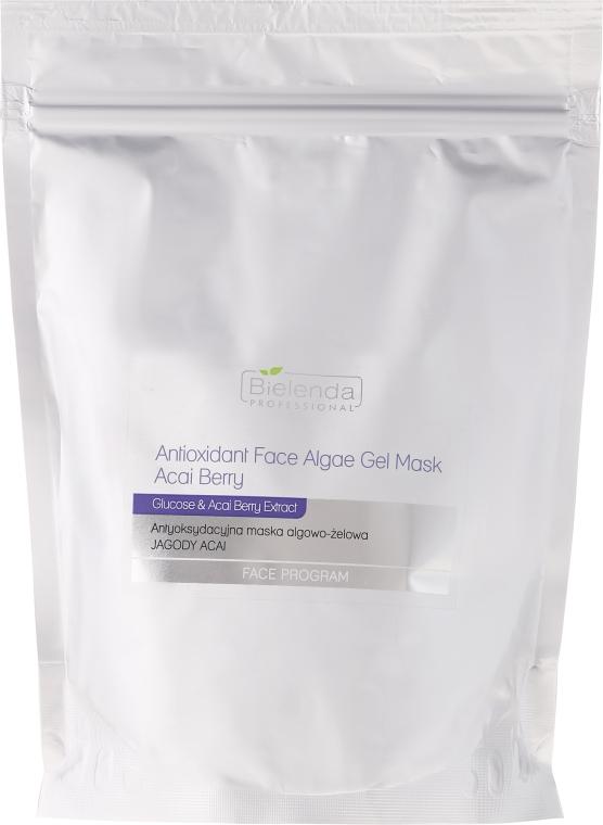 Antyoksydacyjna maska algowo-żelowa Jagody acai - Bielenda Professional Face Program Antioxidant Face Algae Gel Mask Acai Berry (uzupełnienie) — фото N1