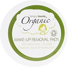 Kup Oczyszczające organiczne chusteczki do twarzy - Simply Gentle Organic Fairtrade Cotton Facial Cleansing Pads