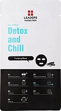 Kup Oczyszczająca maseczka w płachcie do twarzy z węglem drzewnym - Leaders Daily Wonders Detox and Chill Charcoal Purifying Mask