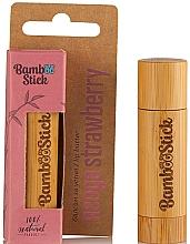 Kup Masełko do ust Truskawka - Bamboostick Strawberry Bamboo Natural Care Lip Butter