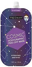 Kup Nawilżająca maska pell-off do twarzy - Freeman Beauty Cosmic Holographic Peel-Off Hydrating Amethyst Mask