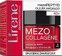 Kup Odżywczy krem korygujący zmarszczki do twarzy na noc - Lirene Mezo Collagene
