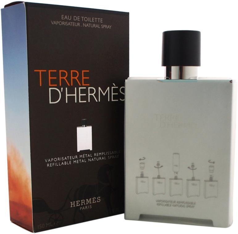 Hermes Terre D'Hermes Refillable Metal Natural Spray - Woda toaletowa (wymienny wkład) — фото N3