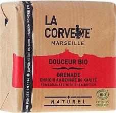 Kup Organiczne mydło w kostce Granat i masło shea - La Corvette Sweet Soap Bio Pomegranate