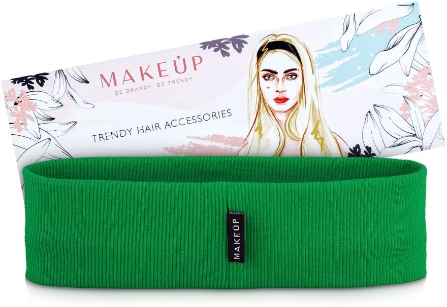 Opaska na głowę Be Beauty, zielona (20 x 6 cm) - Makeup