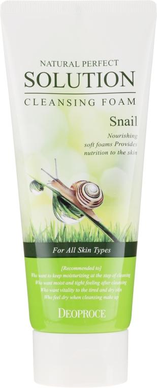 Pianka do mycia twarzy ze śluzem ślimaka - Deoproce Natural Perfect Solution Cleansing Foam Snail — фото N2