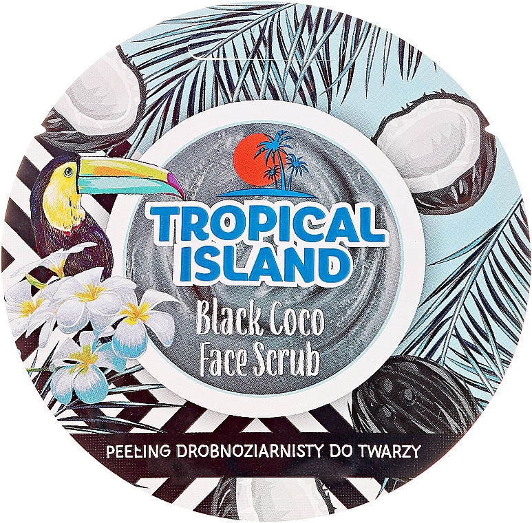 Peeling drobnoziarnisty do twarzy Czarny kokos - Marion Tropical Island Black Coco