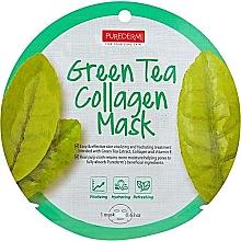 Kup Maska w płachcie z zieloną herbatą - Purederm Green Tea Collagen Mask