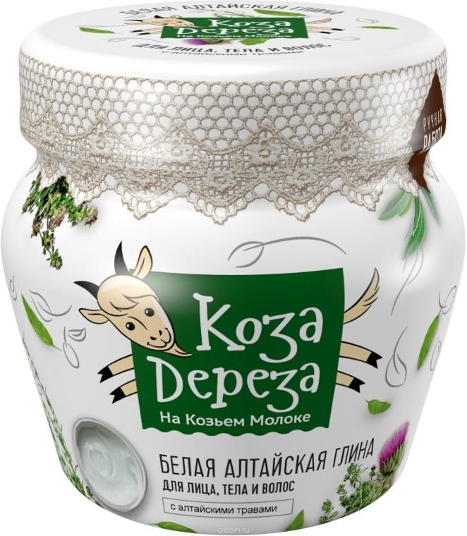 Biała ałtajska glinka do twarzy, ciała i włosów z kozim mlekiem - FitoKosmetik Koza Dereza