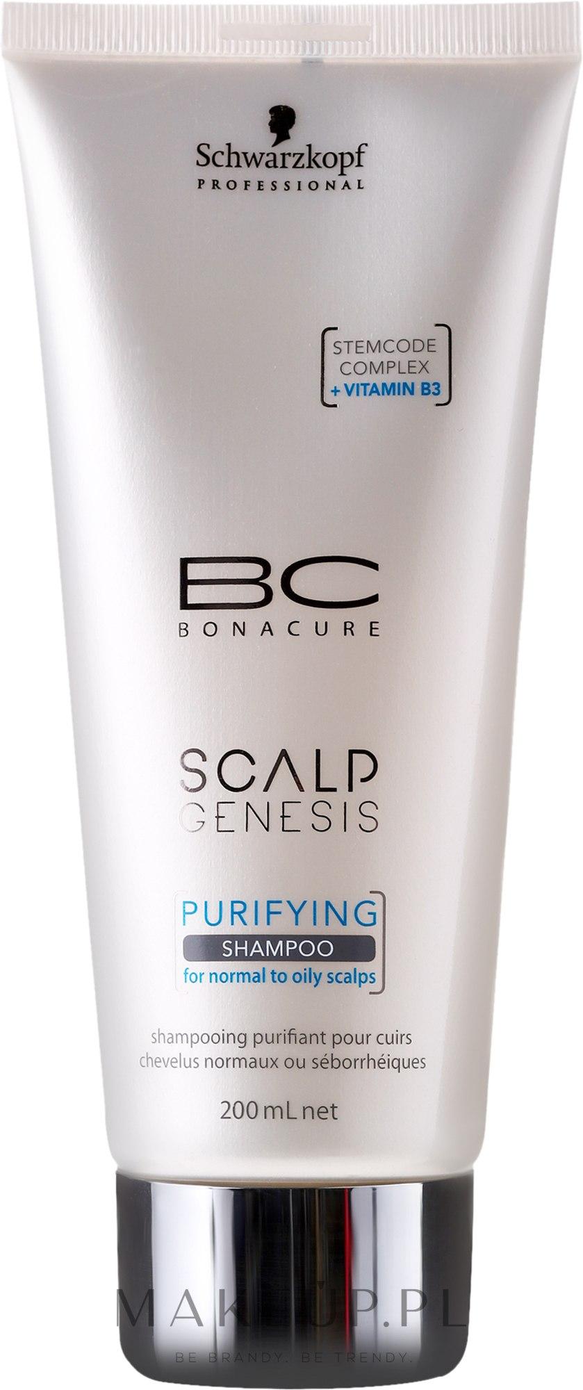 Oczyszczający szampon do włosów normalnych i tłustych - Schwarzkopf Professional BC Bonacure Scalp Genesis Purifying Shampoo — фото 200 ml