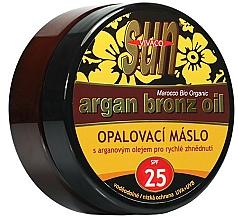 Kup Brązujące masło do opalania olejem arganowym - Vivaco Sun Argan Bronze Oil Tanning Butter SPF 25