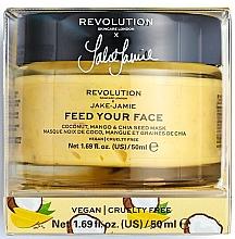 Kup PRZECENA! Rozświetlająca maska do twarzy - Makeup Revolution Skincare X Jake Jamie Feed Your Face Coconut, Mango & Chia Seed Mask *