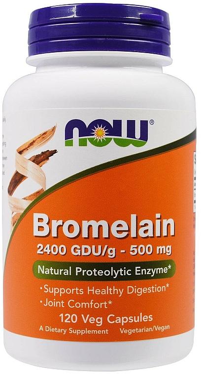 Suplement diety Bromelaina, 500mg - Now Foods Bromelain — фото N1