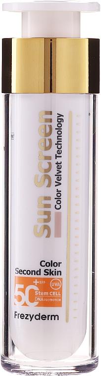 Przeciwsłoneczny krem do twarzy - Frezyderm Sun Screen Color Velvet Face Cream SPF 50+