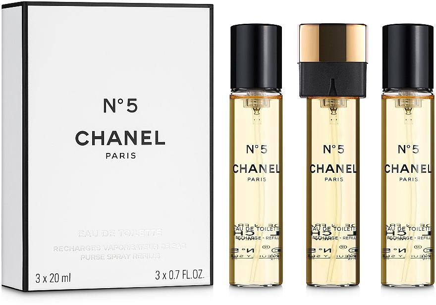 Chanel N°5 - Woda toaletowa (purse spray + dwa wymienne wkłady) — фото N1