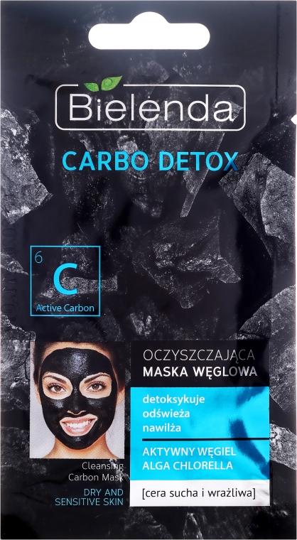 Oczyszczająca maska węglowa do cery suchej i wrażliwej - Bielenda Carbo Detox — фото N1
