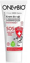 Kup Regenerujący krem do rąk o właściwościach antybakteryjnych - Only Bio Silver Med Care+ SOS Peony Flower Hand Cream