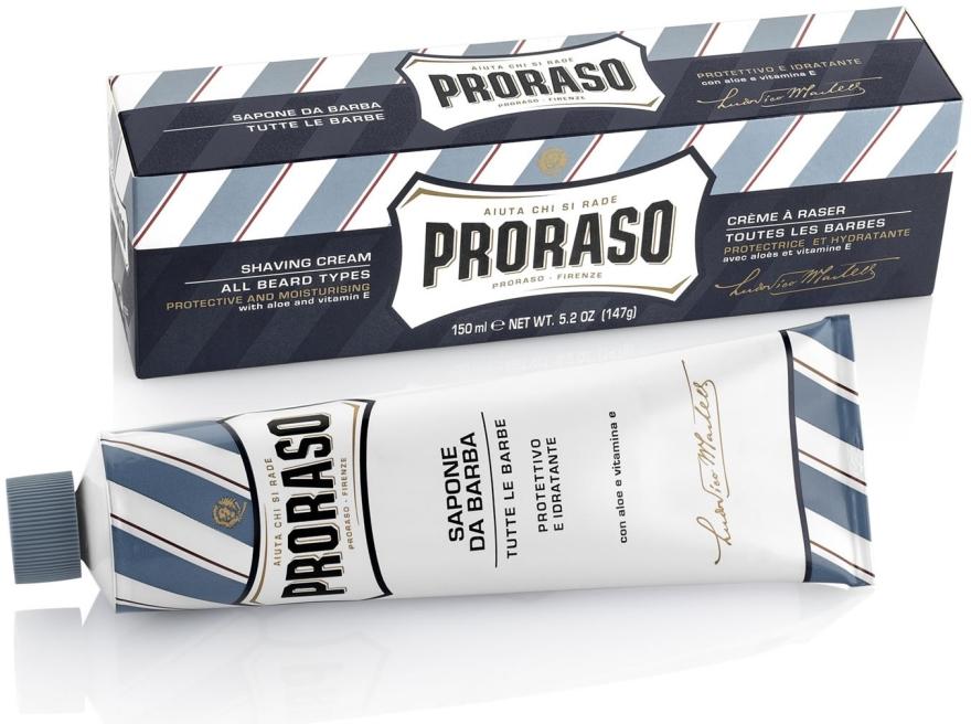 Krem do golenia Aloes i witamina E - Proraso Blue Shaving Cream