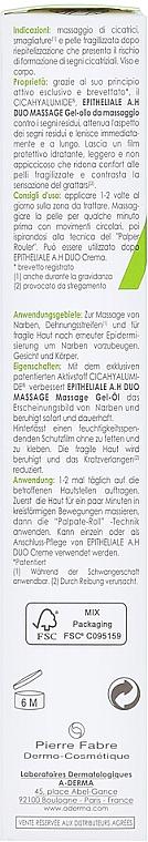 Żelowy olejek do masażu przeciw bliznom i rozstępom - A-Derma Epitheliale AH Massage — фото N7