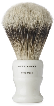 Pędzel do golenia, mały - Acca Kappa Shaving Brush Pure Silver Badger — фото N1