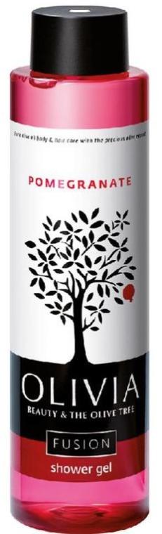 Żel pod prysznic Granat - Olivia Beauty & The Olive Tree Fusion Shower Gel Pomegranate — фото N1