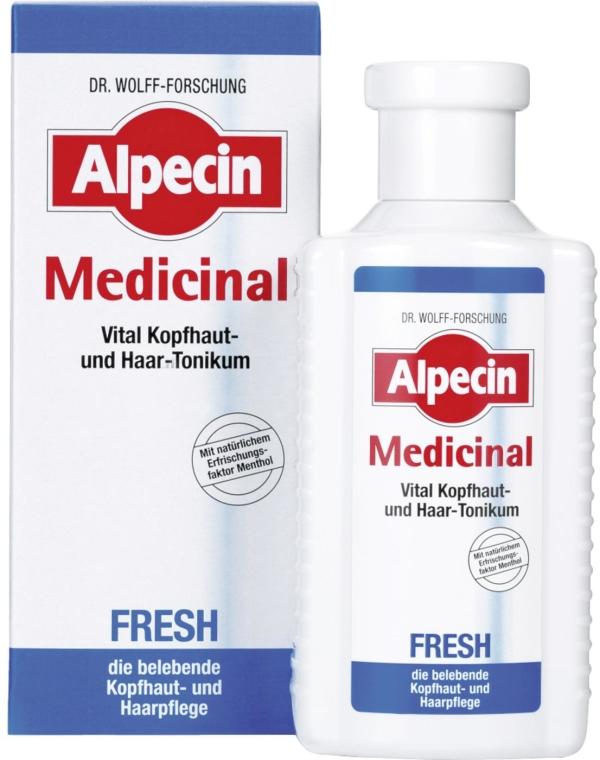 Rewitalizujący tonik do przetłuszczającej się skóry głowy - Alpecin Medicinal Fresh — фото N1