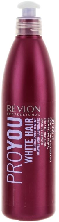 Szampon do włosów blond lub siwych - Revlon Professional Pro You White Hair Shampoo — фото N1