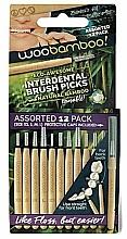 Kup Zestaw szczoteczek międzyzębowych, 12 szt. - Woobamboo Toothbrush Interdental Brush Picks Assorted