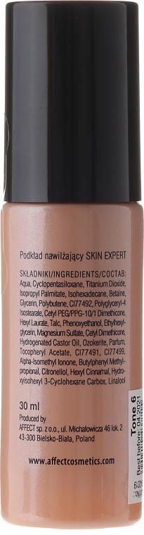 Nawilżający podkład do twarzy do cery suchej i mieszanej - Affect Cosmetics Skin Expert Moisturizing Foundation — фото N2