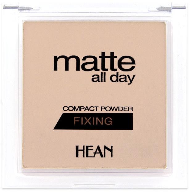 Matujący puder do twarzy - Hean Matte All Day Compact Powder