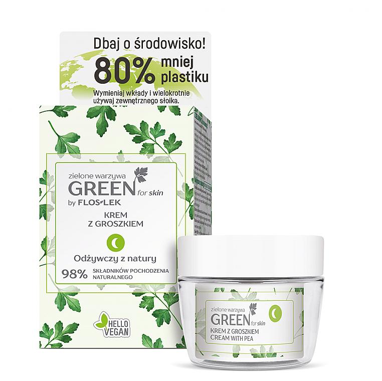 Zestaw do pielęgnacji cery suchej - Floslek Green For Skin (f/cr/50ml + jar)