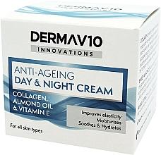 Kup Przeciwstarzeniowy krem kolagenowy na dzień i na noc - Derma V10 Innovations Anti-Ageing Day & Night Cream