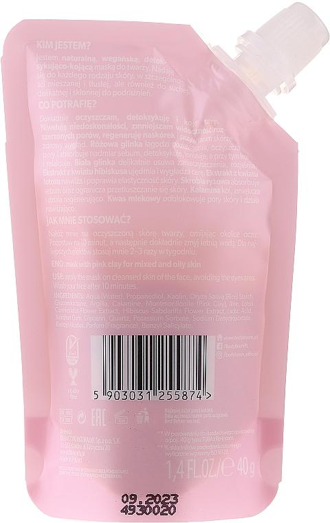Detoksykująco-kojąca maseczka do twarzy z różową glinką - BodyBoom Face Boom Mask With Pink Clay — фото N2