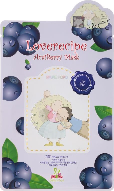 Odżywczo-rewitalizująca celulozowa maska w płachcie do twarzy z wyciągiem z jagód acai - Sally's Box Loverecipe Acai Berry Mask — фото N1