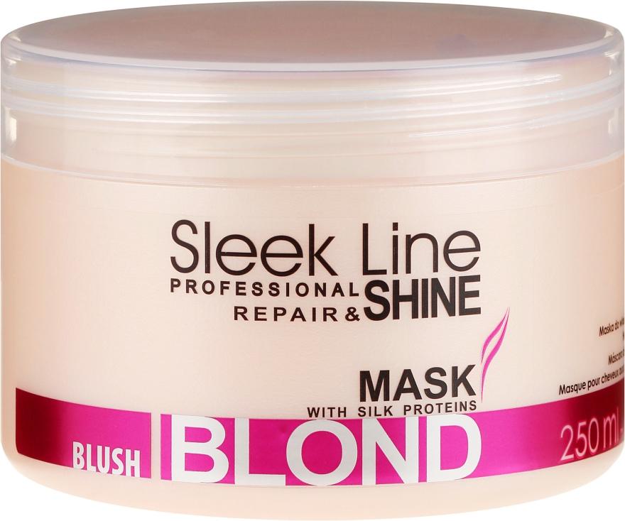 Maska do włosów blond nadająca różowy odcień - Stapiz Sleek Line Blush Blond Mask