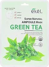 Kup Maska na tkaninie do twarzy z ekstraktem z zielonej herbaty - Ekel Super Natural Ampoule Green Tea