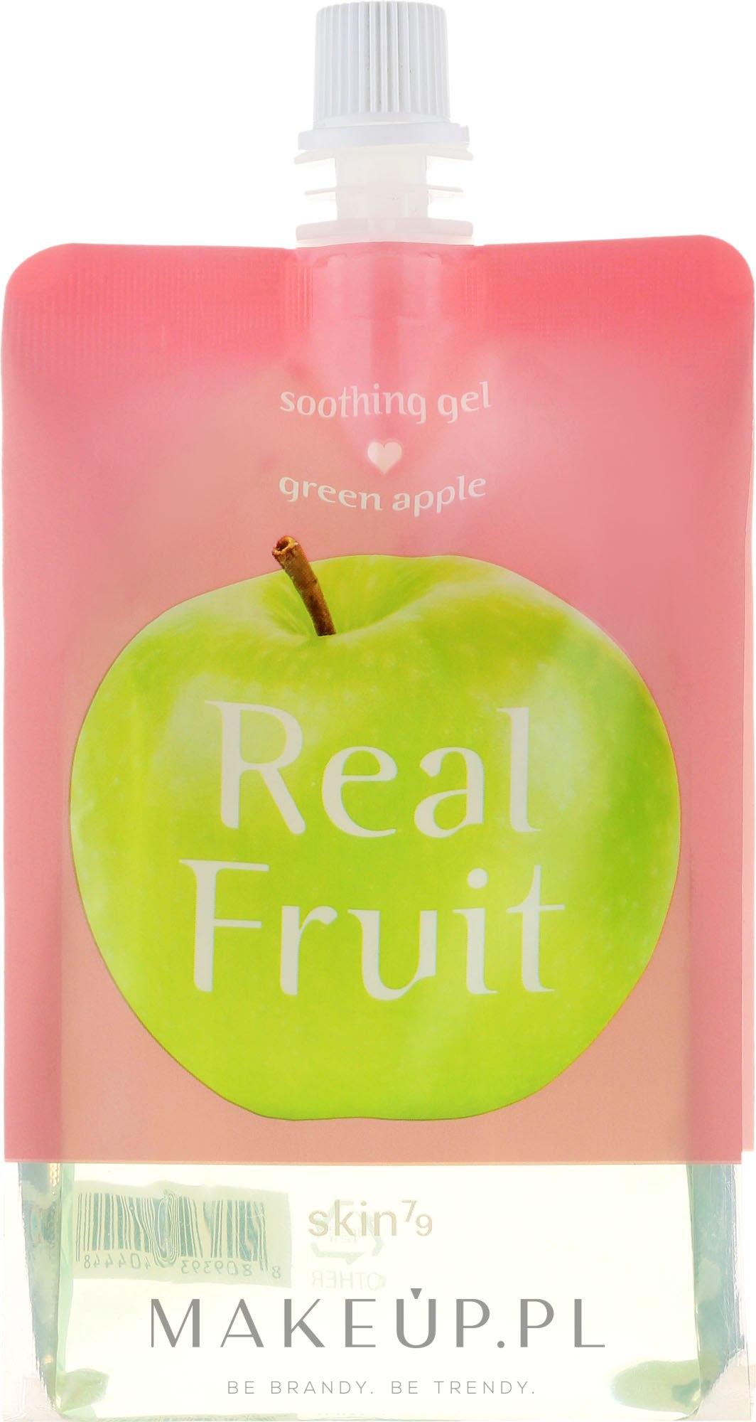 Odżywczo-nawilżający żel kojący do ciała Zielone jabłko - Skin79 Real Fruit Green Apple Soothing Gel — фото 300 g