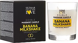 Kup Naturalna świeca do masażu Mleczny koktajl bananowy - Sezmar Collection Love Edible Massage Candle