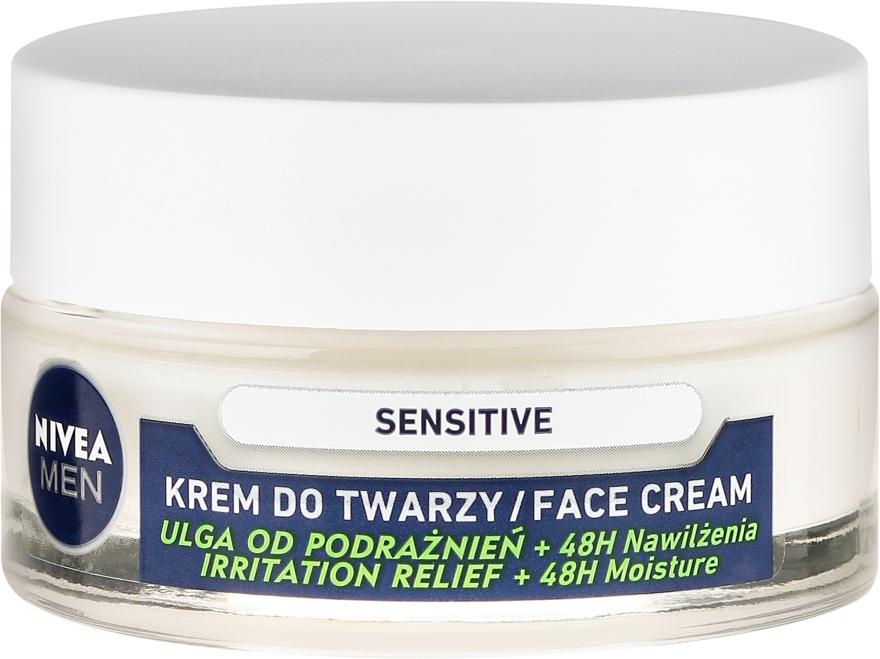 Intensywnie nawilżający krem do twarzy dla mężczyzn Ulga od podrażnień - Nivea Intensively Moisturizing Cream Men Sensitive Skin — фото N2
