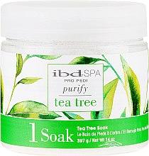 Kup Oczyszczająca sól do kąpieli dłoni i stóp z ekstraktem z drzewa herbacianego - IBD Tea Tree Purify Pedi Spa Soak