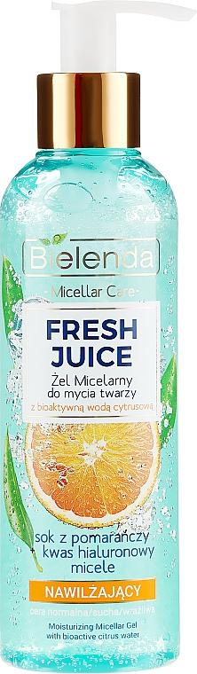 Nawilżający żel micelarny do twarzy z bioaktywną wodą cytrusową - Bielenda Fresh Juice