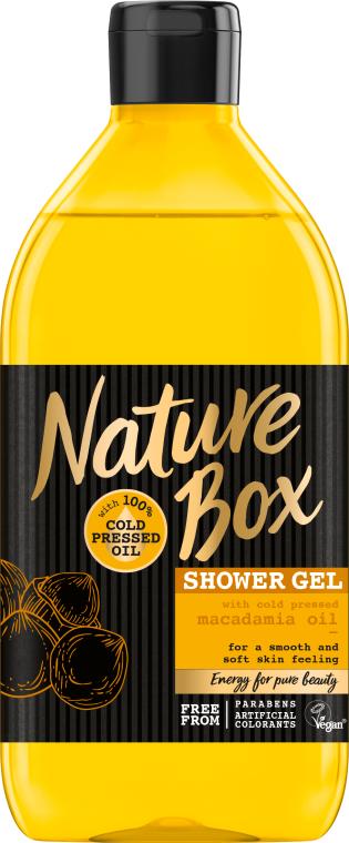 Nawilżający żel pod prysznic z zimnotłoczonym olejem makadamia - Nature Box Macadamia Oil Shower Gel — фото N1